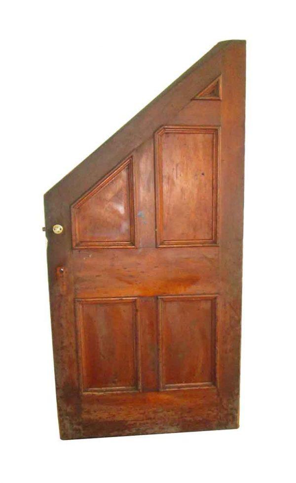 Specialty Doors - Antique 5 Pane Slanted Privacy Door 78 x 37.875