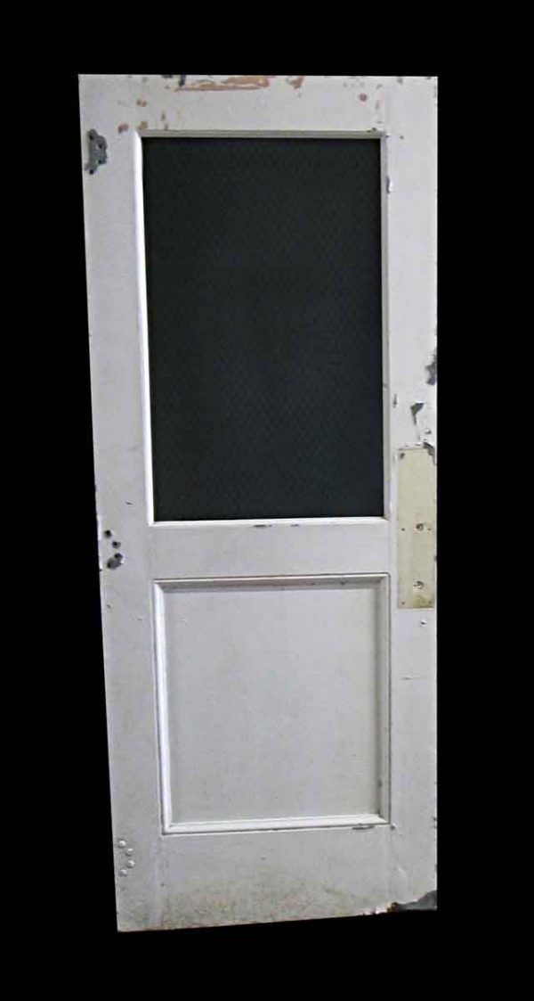 Standard Doors - Antique 1 Chicken Wire Lite Metal Door 79.25 x 31.5
