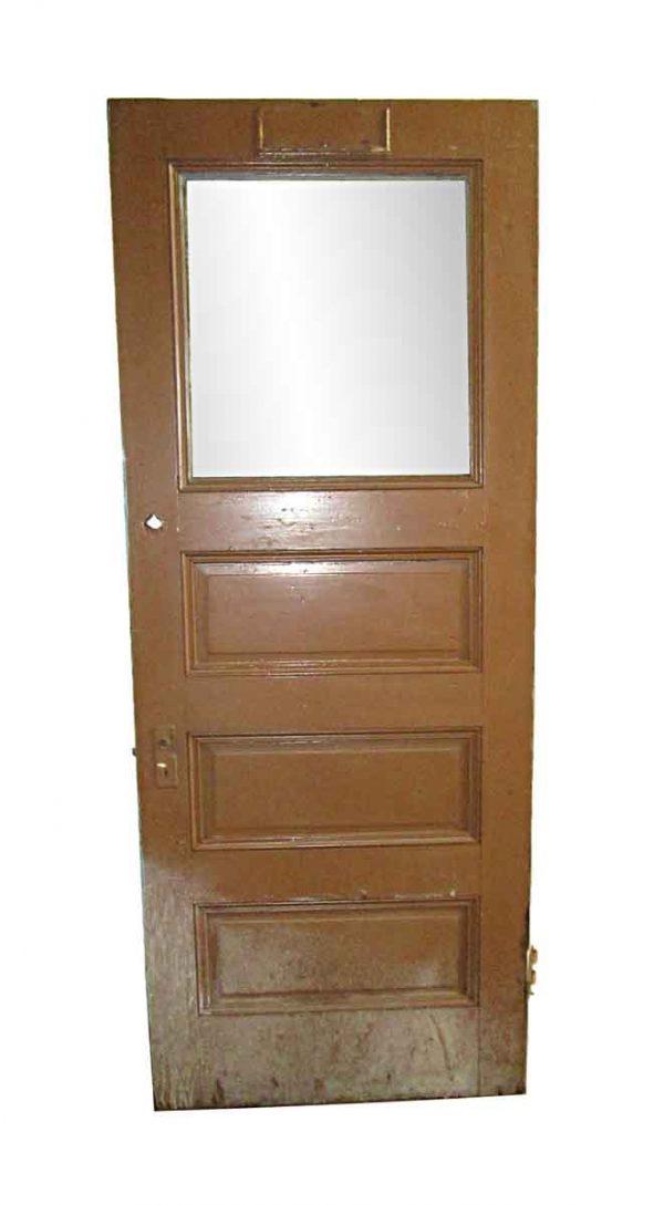 Standard Doors - Antique 1 Lite 3 Pane Wood Privacy Door 89.5 x 35.5