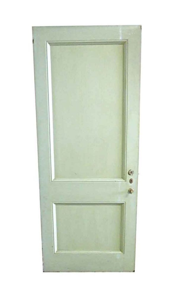 Standard Doors - Antique 2 Pane Wood Privacy Door 83.25 x 33.5