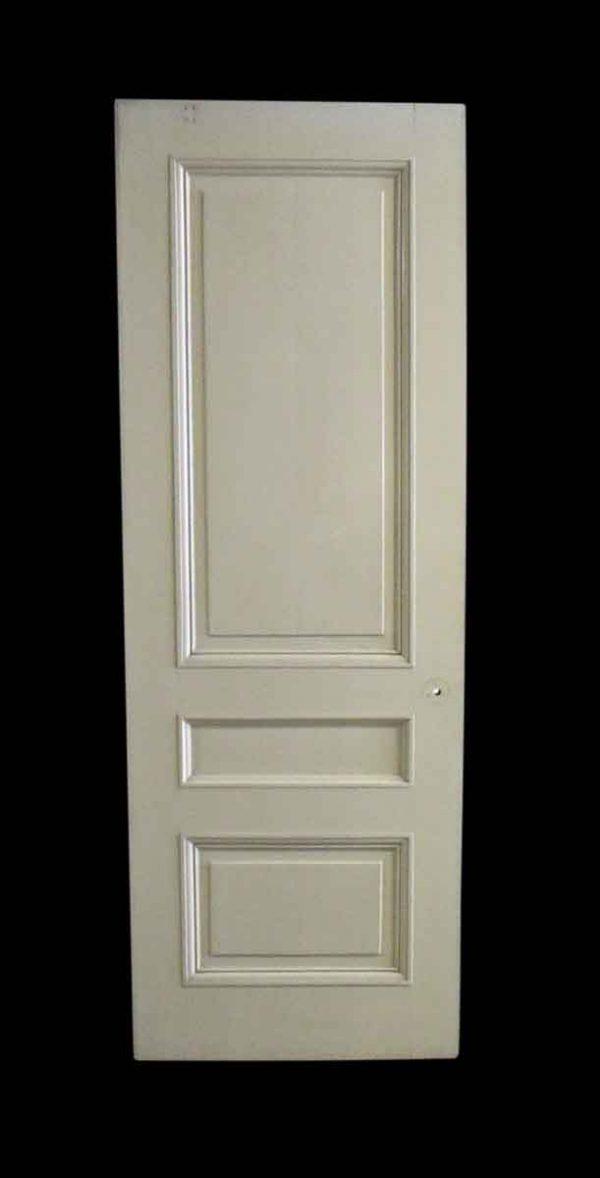 Standard Doors - Antique 3 Pane White Wood Passage Door 90 x 31.5