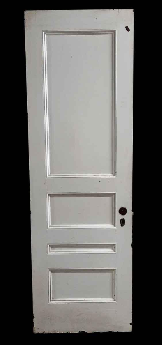 Standard Doors - Antique 4 Pane White Passage Door 86.75 x 27.625