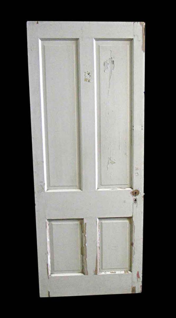 Standard Doors - Antique 4 Pane White Wood Passage Door 80 x 32
