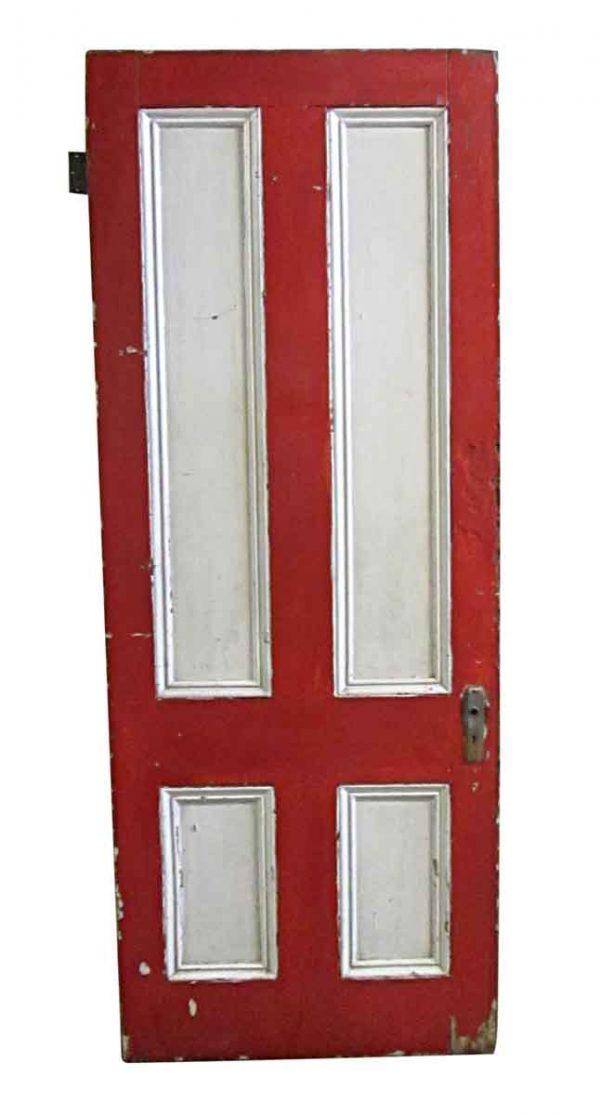 Standard Doors - Antique 4 Pane Wood Passage Door 88 x 34.5