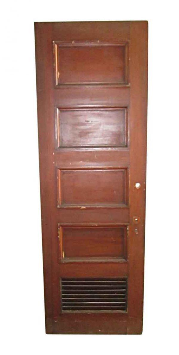 Standard Doors - Antique 5 Pane Louver Wood Privacy Door 89.5 x 29.75