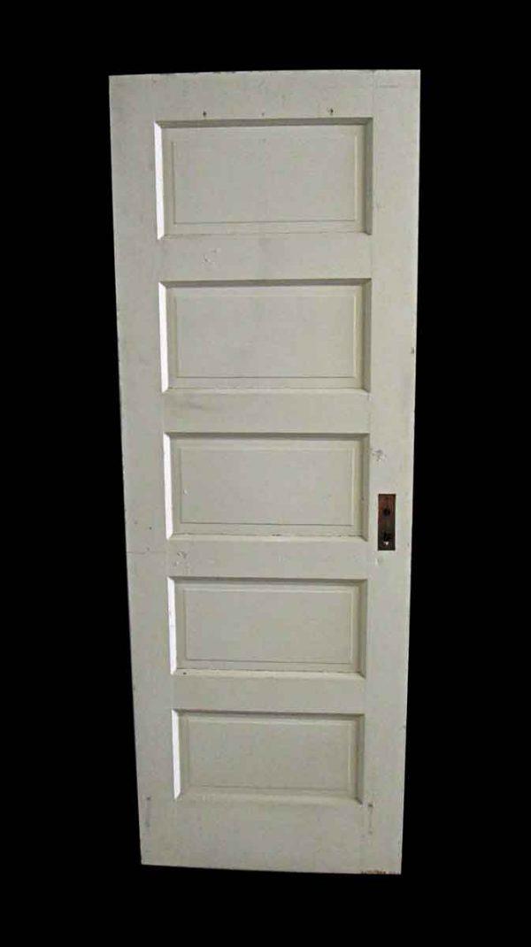 Standard Doors - Antique 5 Pane White Wood Passage Door 78.75 x 27.75