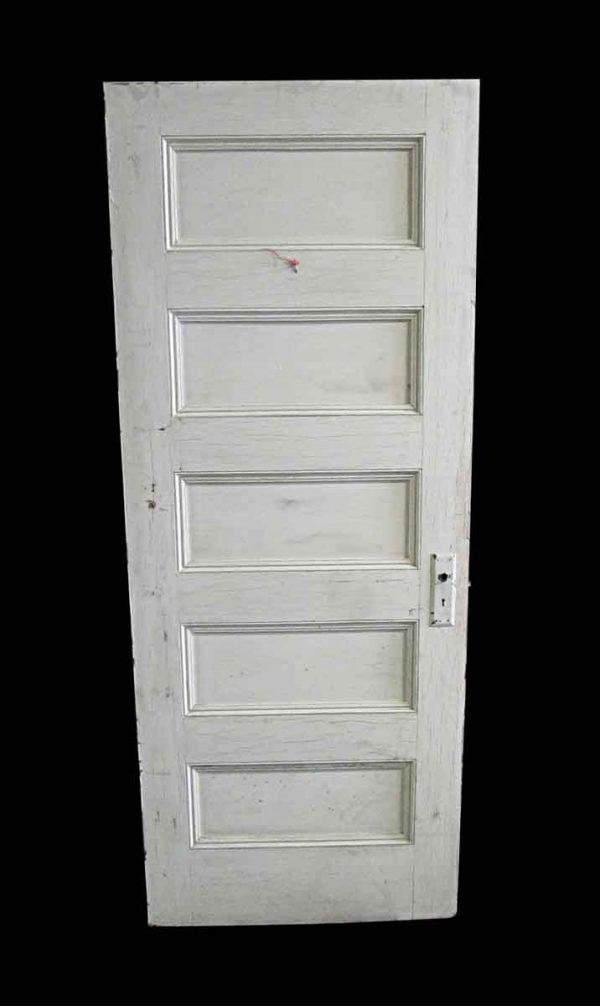 Standard Doors - Antique 5 Pane White Wood Passage Door 79.5 x 32