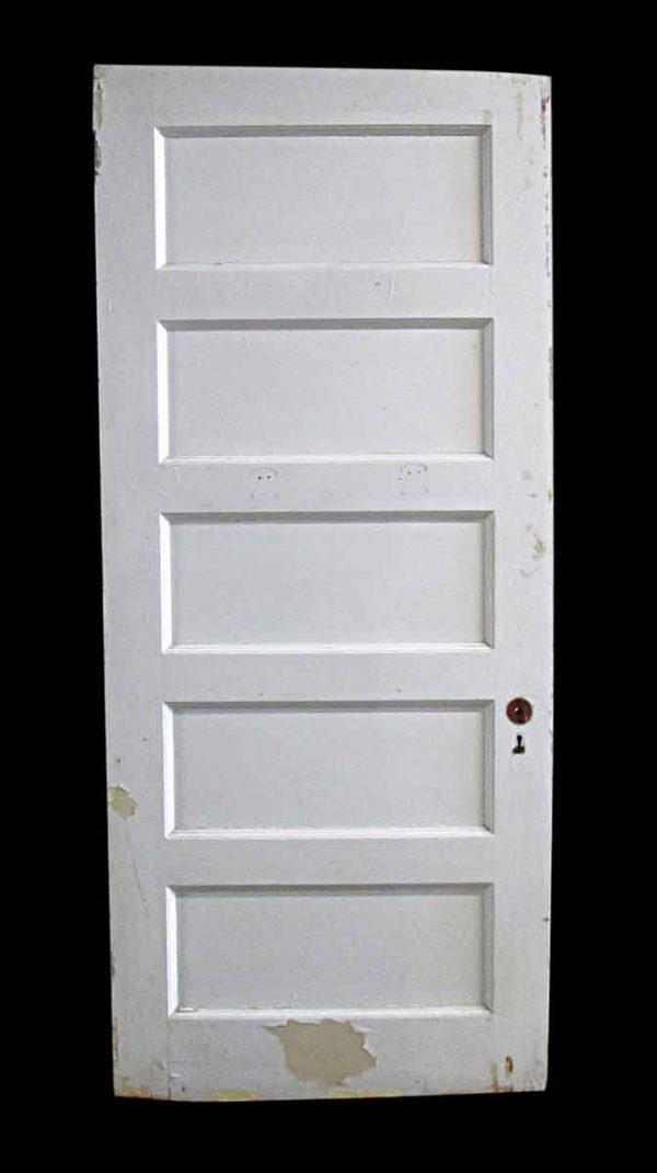 Standard Doors - Antique 5 Pane White Wood Passage Door 82.5 x 35.75