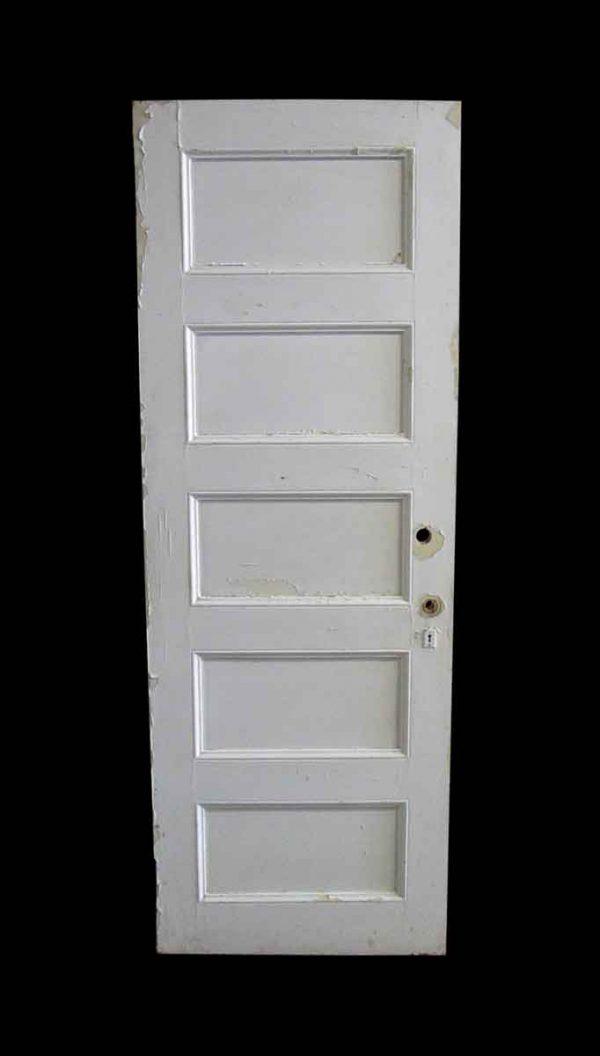Standard Doors - Antique 5 Pane White Wood Privacy Door 78.25 x 27.875