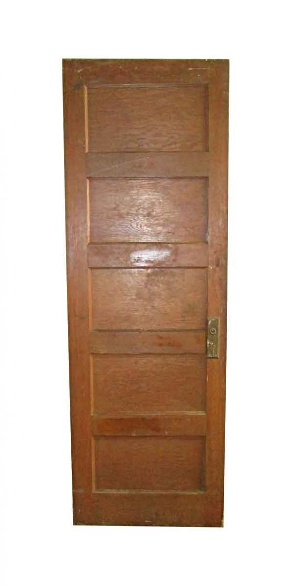 Standard Doors - Antique 5 Pane Wood Passage Door 79.25 x 26.5