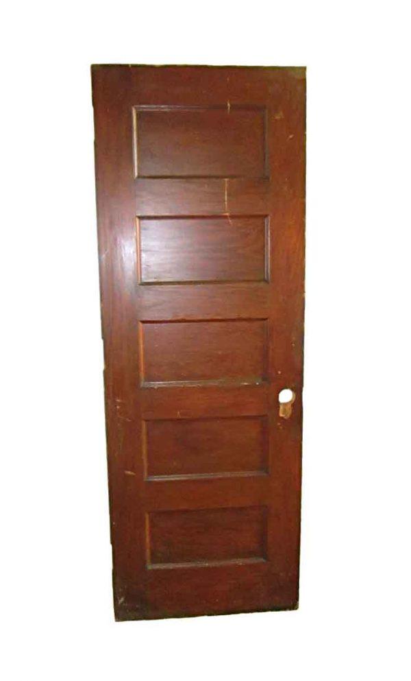 Standard Doors - Antique 5 Pane Wood Passage Door 83.375 x 29.875