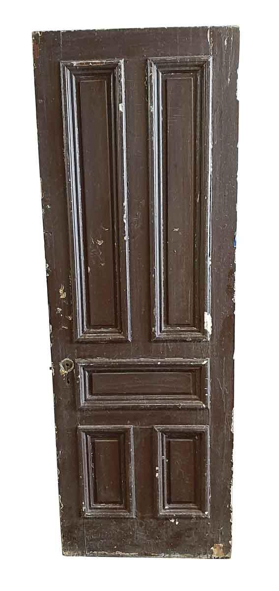 Standard Doors - Antique 5 Pane Wood Passage Door 85.25 x 30