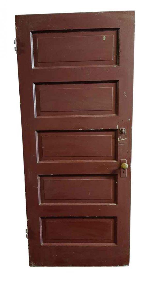Standard Doors - Antique 5 Pane Wood Privacy Door 83.75 x 35.75