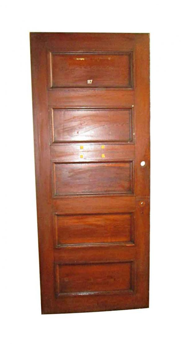 Standard Doors - Antique 5 Pane Wood Privacy Door 87.5 x 35.75