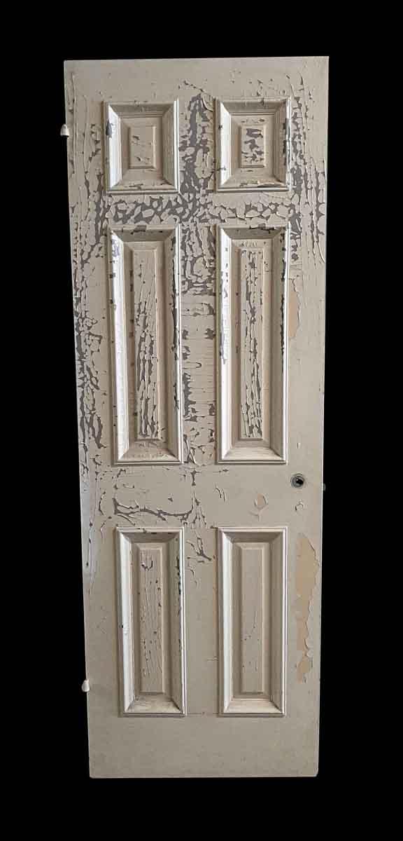 Standard Doors - Antique 6 Pane White Wood Passage Door 82.5 x 27.875