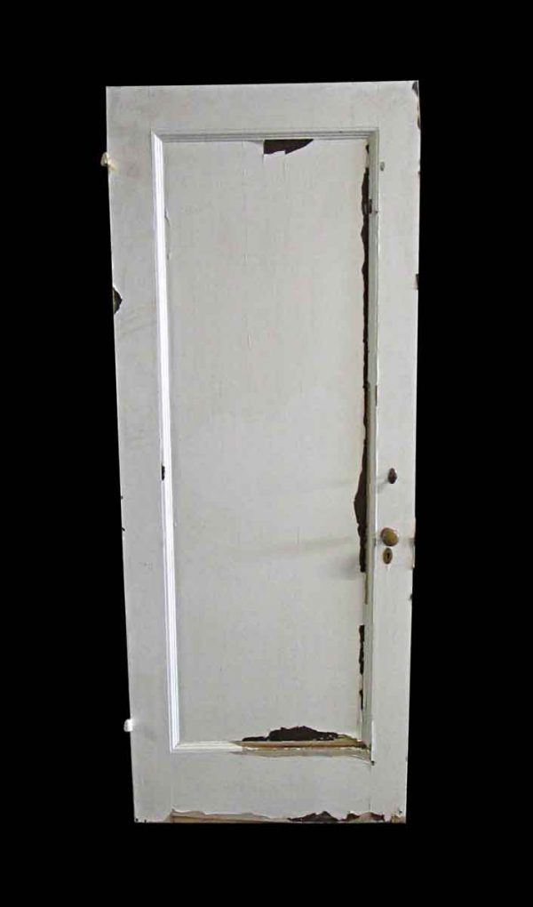 Standard Doors - Antique 6 Pane White Wood Privacy Door 81 x 31.75