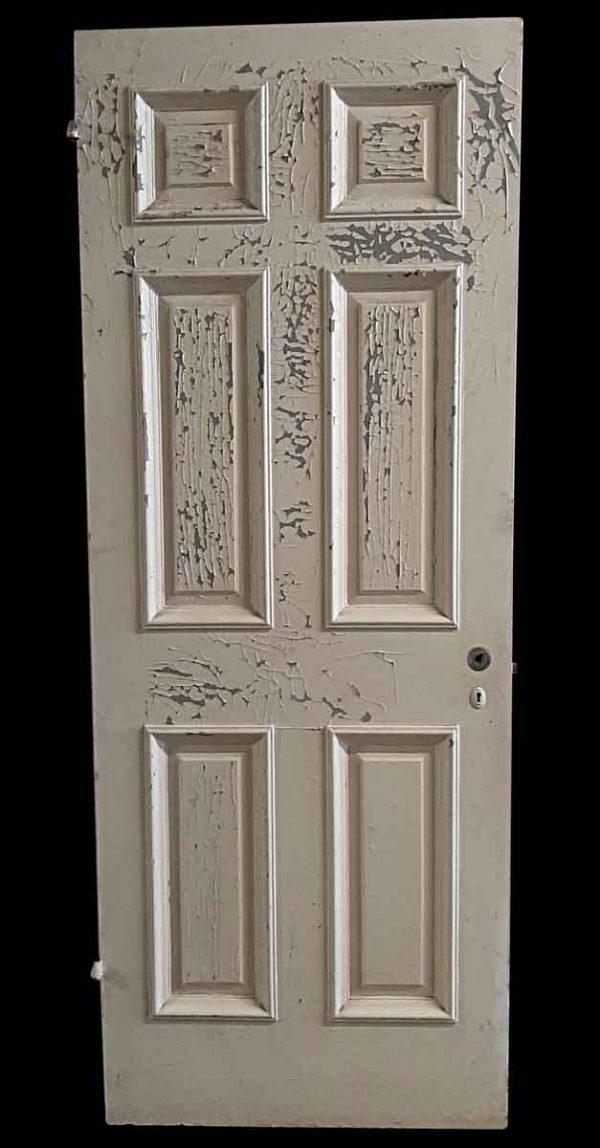 Standard Doors - Antique 6 White Wood Passage Door 81.125 x 31.75