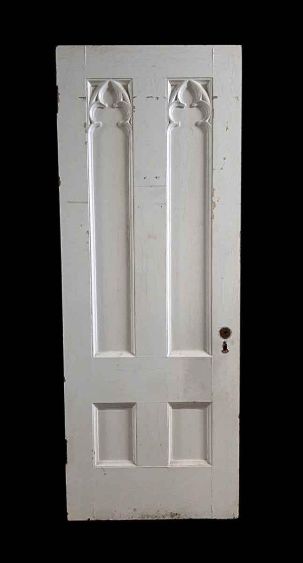 Standard Doors - Antique Gothic 6 Pane White Wood Passage Door 95.625 x 36
