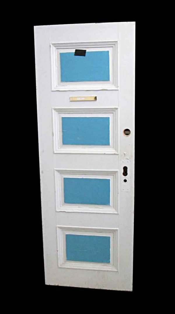 Standard Doors - Antique Lamb's Club 4 Pane Wood Privacy Door 83.25 x 29.5