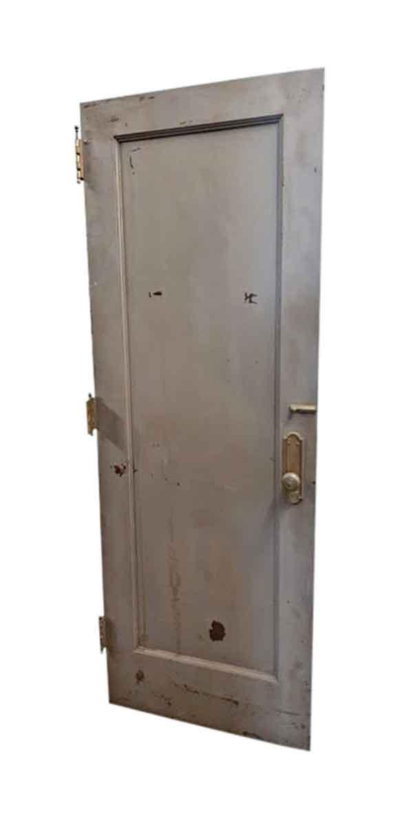 Standard Doors - Antique Single Pane Metal Privacy Door 83.35 x 29.75