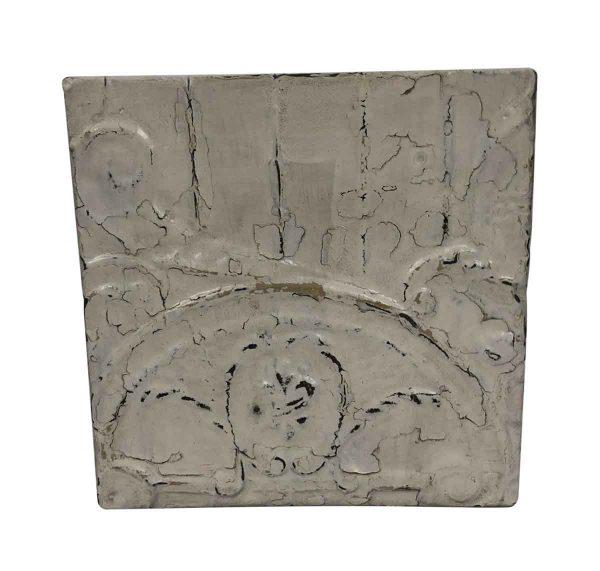 Tin Panels - Fleur de Lis Swirls White Tin Panel