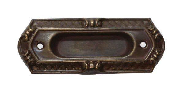 Window Hardware - Art Deco Stamped Brass Recessed Window Sash Lift