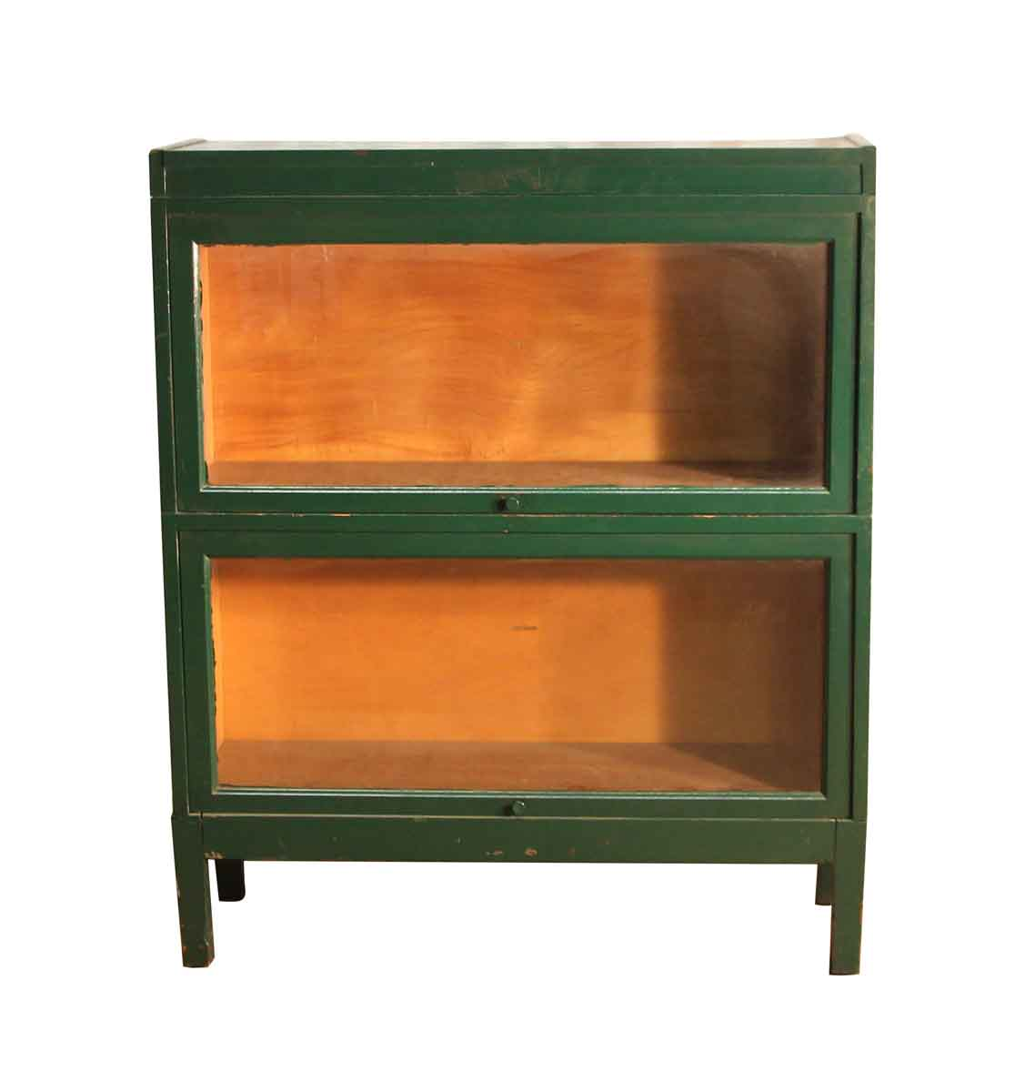 Mid Century Green Wooden Barrister Cabinet Olde Good Things