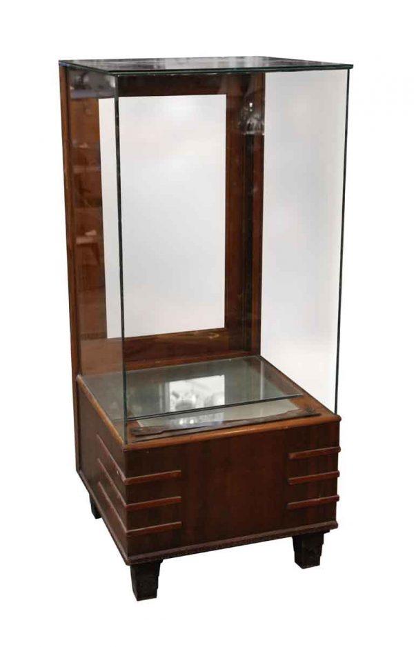 Cabinets - Walnut Four Sided Showcase
