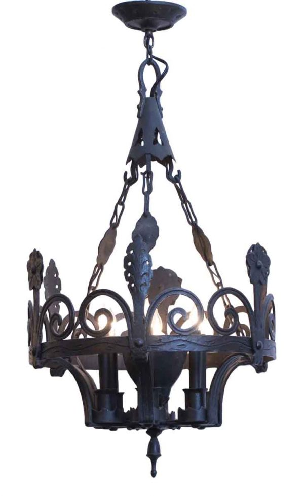 Chandeliers - Antique Aesthetic Wrought Iron 6 Light Chandelier