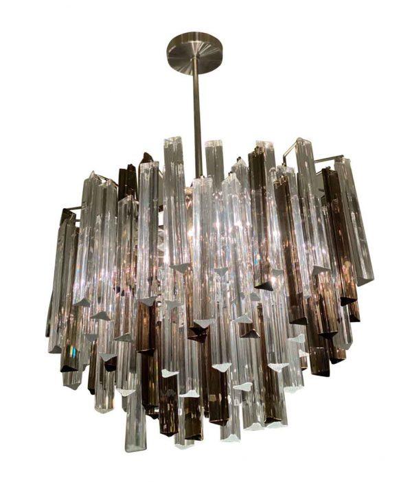 Chandeliers - Mid Century Camer Glass Prism Chandelier