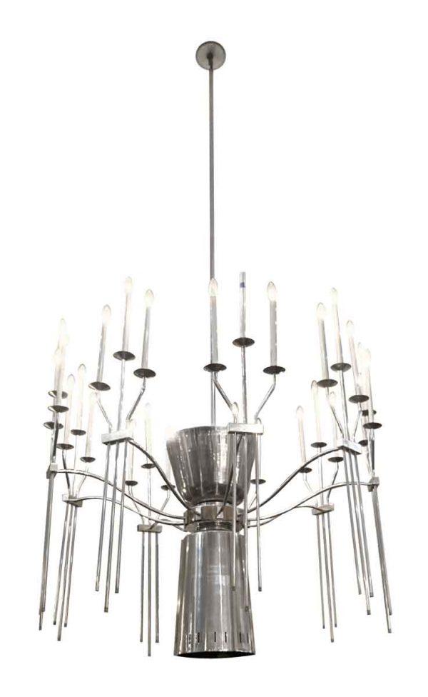 Chandeliers - Mid Century Grand 27 Light Aluminum Chandelier
