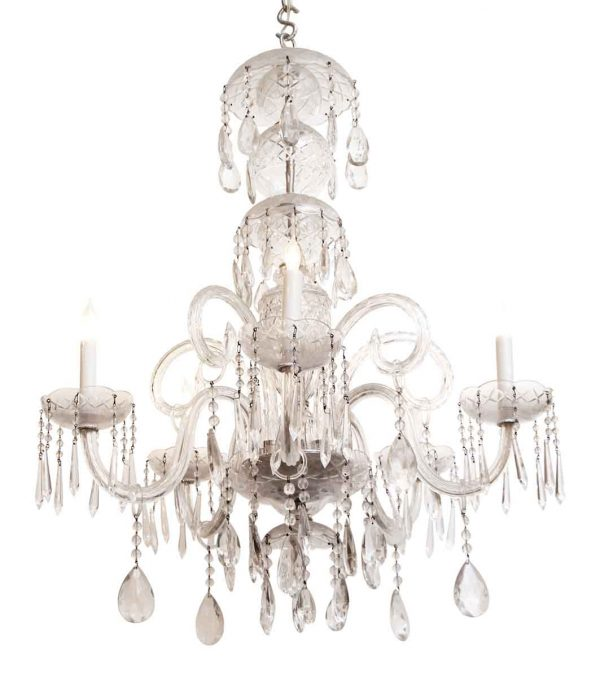 Chandeliers - Waterford Crystal Chandelier with 5 Arms