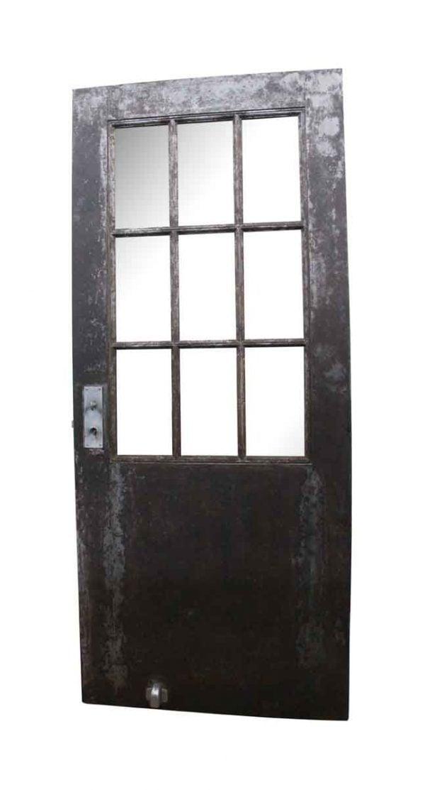 Commercial Doors - Antique 9 Wire Glass Lite Steel Door 83.25 x 35.7