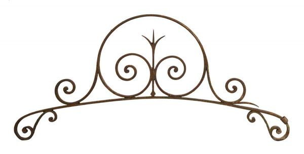 Decorative Metal - Swirled Arched Wrought Iron Pediments
