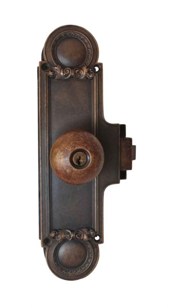 Door Knob Sets - Antique Traditional Bronze Monolock Door Set