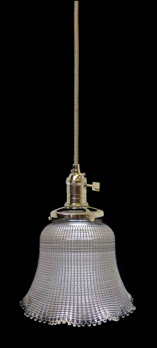 Down Lights - Custom Antique Clear 5.875 in. Holophane Pendant Light