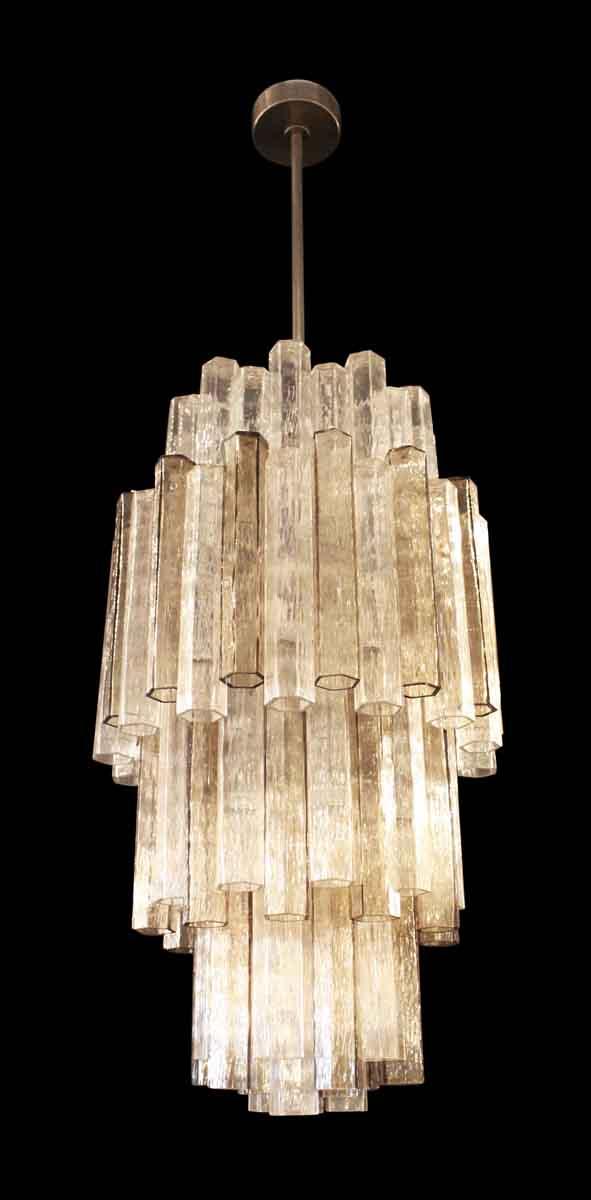 Down Lights - Mid Century Italian Tronchi Glass Pendant Light
