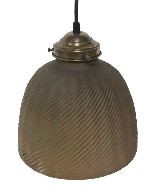Down Lights - Restored Rare Silvered X-Ray Glass Pendant Light