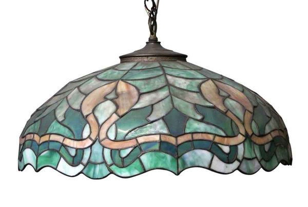 Down Lights - Traditional Tiffany Style Green Stained Glass Pendant Light