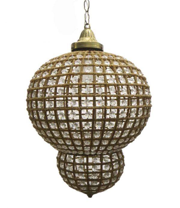 Down Lights - Vintage Crystal Moroccan Style Pendant Light