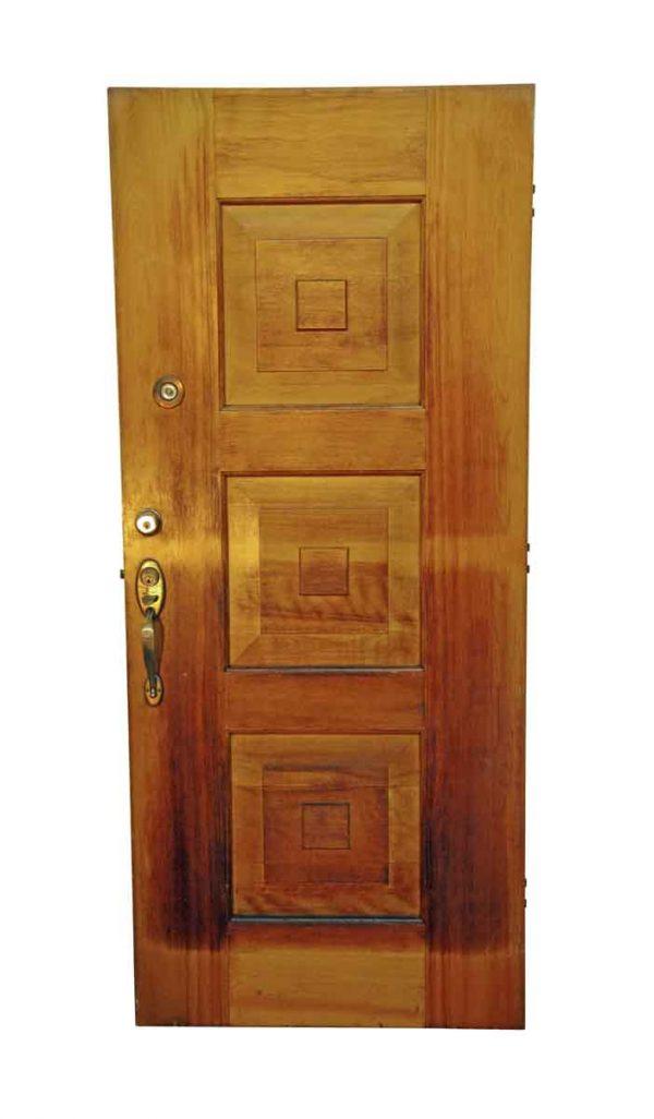 Entry Doors - Antique 3 Pane Solid Maple Entry Door 82.375 x 35.375