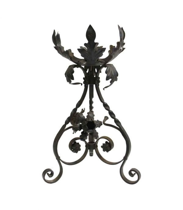 Garden Elements - Antique Black Wrought Iron Plant Stand