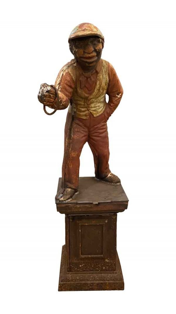 Garden Elements - Antique Cast Iron Lawn Jockey