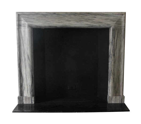 Mantels - Salvaged Waldorf Bolection Mantel Green & Gray Marble