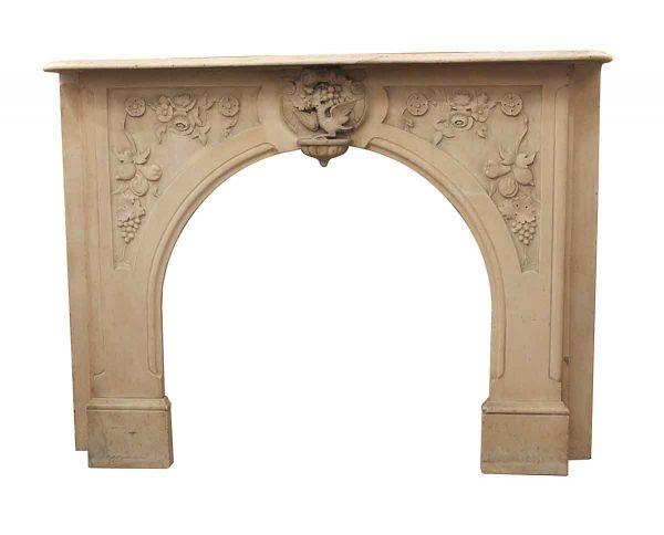 Marble Mantel - Antique Marble Victorian Carved Mantel