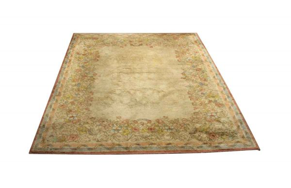 Rugs & Drapery - Vintage Colorful Floral 12 ft x 9 ft Area Rug
