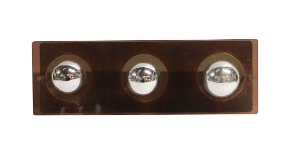 Sconces & Wall Lighting - Mid Century Modern Brown Lucite Vanity Mirror Wall Sconce