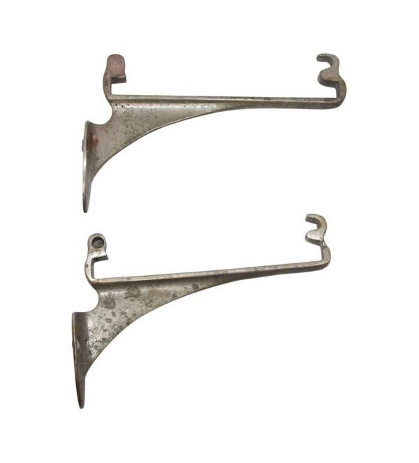 Shelf & Sign Brackets - Pair of Nickel Plated Brass Shelf Brackets