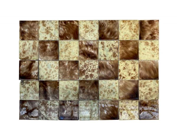 Wall Tiles - Victorian 5 Square Feet Crackled Brown Mix Wall Tile Lot