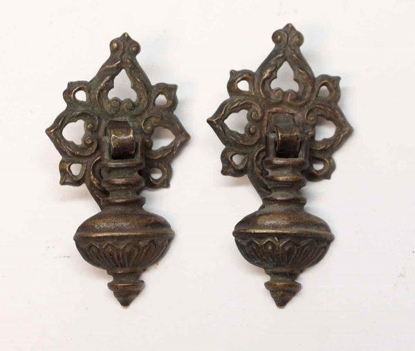 Cabinet & Furniture Pulls - Pair of Antique Victorian Brass Drop Pulls